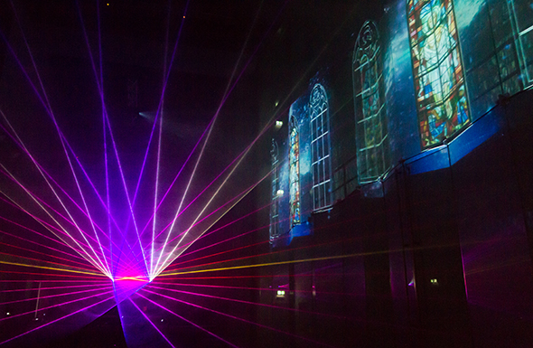 Luminale 2014 St Peter - Live Visuals VJ Chuck Goldfinger